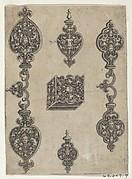 Blackwork Design for Broochs, Bracelets and Pendants