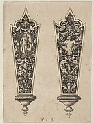 Design for Knife Handles with the Death of Lucretia and Grotesques