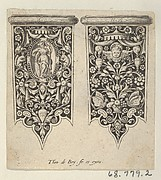 Design for Knife Handles, from Mansches de Coutiaus