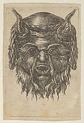 Satyr Mask with a Laurel Wreath Draped Over the Horns, from Divers Masques