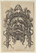 Mask with a Wreath of Laurels and a Wreath of Oak Leaves, Seen from Below, from Divers Masques