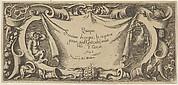 Title Plate, from Quinque Sensuum