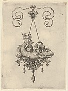 Pendant Design with a Fish Carrying Tobias and the Angel