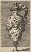 Vase with Lid, Decorated with a Mask and Garlands