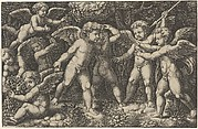 Eight putti playing