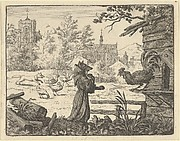 Renard, Disguised as a Monk, Gains the Confidence of the Rooster from Hendrick van Alcmar's Renard The Fox