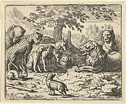 The Lion Takes the Advice of the Other Animals for Renard's Punishment from Hendrick van Alcmar's Renard The Fox