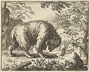 Renard Promises the Bear to Take Him to a Place Where He Will Find Honey from Hendrick van Alcmar's Renard The Fox