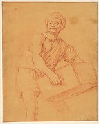 Study of a Bearded and Turbaned Man Carrying a Chest