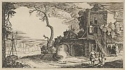 Square Tower Used as Inn near a River from the series Landscapes