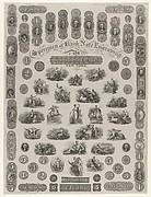 Specimen Sheet of Bank Note Engraving