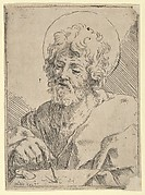 Saint Luke holding a paint brush and palette, after Reni (?)