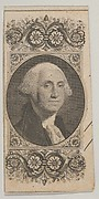 Banknote motif: Portrait on George Washington in a decorative panel