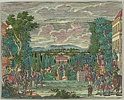 Paper Theater or Diorama of an Italianate Villa and Garden