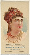 Mme. Materna, from World's Beauties, Series 2 (N27) for Allen & Ginter Cigarettes