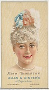 Miss Thornton, from World's Beauties, Series 2 (N27) for Allen & Ginter Cigarettes