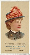 Lottie Forbes, from World's Beauties, Series 2 (N27) for Allen & Ginter Cigarettes