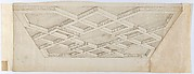 Three Design for Ornament & Architecture: Perspectival Rendering of a Ceiling; Two Sheets of Rocaille Designs