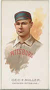 George F. Miller, Baseball Player, Catcher, Pittsburgh, from World's Champions, Series 2 (N29) for Allen & Ginter Cigarettes