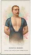 Edwin Bibby, Wrestler, from World's Champions, Series 2 (N29) for Allen & Ginter Cigarettes