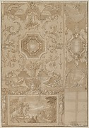 Design for an Elaborate Ceiling with Figures and Animals