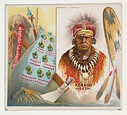 Keokuk, Sac & Fox, from the American Indian Chiefs series (N36) for Allen & Ginter Cigarettes