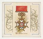 Order of the Bath, Great Britain, from the World's Decorations series (N44) for Allen & Ginter Cigarettes
