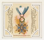 Royal and Distinguished Order of Charles III of Spain, from the World's Decorations series (N44) for Allen & Ginter Cigarettes