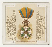 Military Order of William, Netherlands or Holland, from the World's Decorations series (N44) for Allen & Ginter Cigarettes