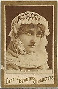 Maud Branscombe, from the Actresses and Celebrities series (N60, Type 1) promoting Little Beauties Cigarettes for Allen & Ginter brand tobacco products