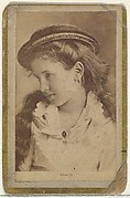 Angela, from the Actresses and Celebrities series (N60, Type 2) promoting Little Beauties Cigarettes for Allen & Ginter brand tobacco products