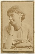 Marie Chester, from the Actresses and Celebrities series (N60, Type 2) promoting Little Beauties Cigarettes for Allen & Ginter brand tobacco products