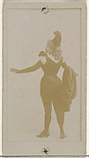 [Actress wearing long gloves and plumed hat], from the Actors and Actresses series (N145-8) issued by Duke Sons & Co. to promote Duke Cigarettes