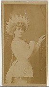 [Actress wearing pointed hat], from the Actors and Actresses series (N145-8) issued by Duke Sons & Co. to promote Duke Cigarettes