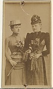 [Two actresses holding gloves], from the Actors and Actresses series (N145-8) issued by Duke Sons & Co. to promote Duke Cigarettes