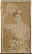 [Actress holding tambourine], from the Actors and Actresses series (N145-8) issued by Duke Sons & Co. to promote Duke Cigarettes