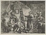 L'Atelier de Rembrandt, tableau de J. Gilbert (from