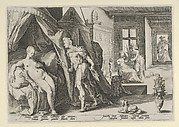 Mercury Entering Herse's Room After Changing Agraulos to Stone, from Ovid, Metamorphoses, Book II