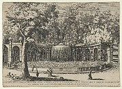 Book IV, plate 7: the fountain of the Tiburtine sibyl in the garden at Villa d'Este, Tivoli, from the series 'The fountains of the Este garden in Tivoli' (Le fontane del Giardino Estense in Tivoli)