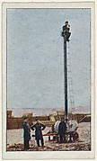 Card No. 11, Portable Observation Tower Used by German Army, from the World War I Scenes series (T121) issued by Sweet Caporal Cigarettes