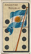Argentine Republic, from the National Flag on Domino series (T177) issued by Kinney Brothers to promote Sweet Caporal Cigarettes