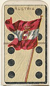 Austria, from the National Flag on Domino series (T177) issued by Kinney Brothers to promote Sweet Caporal Cigarettes