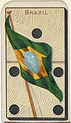 Brazil, from the National Flag on Domino series (T177) issued by Kinney Brothers to promote Sweet Caporal Cigarettes