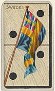 Sweden, from the National Flag on Domino series (T177) issued by Kinney Brothers to promote Sweet Caporal Cigarettes