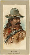 Rural Gendarme, Mexico, from the Military Uniforms series (T182) issued by Abdul Cigarettes