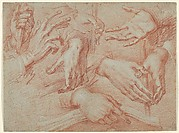 Study of Hands (recto); St. Francis (verso)
