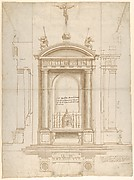 Design for an Altar Surmounted by a Crucifix in Four Different Views