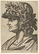 Plate 4: Caius in profile facing left, from 'The Twelve Caesars'