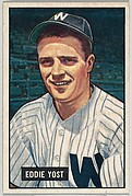 Eddie Yost, 3rd Base, Washington Senators, from Picture Cards, series 5 (R406-5) issued by Bowman Gum