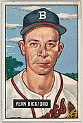 Vern Bickford, Pitcher, Boston Braves, from Picture Cards, series 5 (R406-5) issued by Bowman Gum